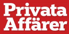 Tidningen Privata Affärers logotyp